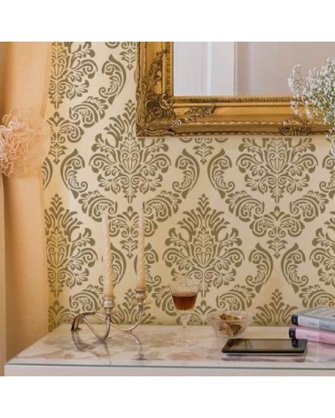 Home Decor Stencil Damask 010 Scalbi