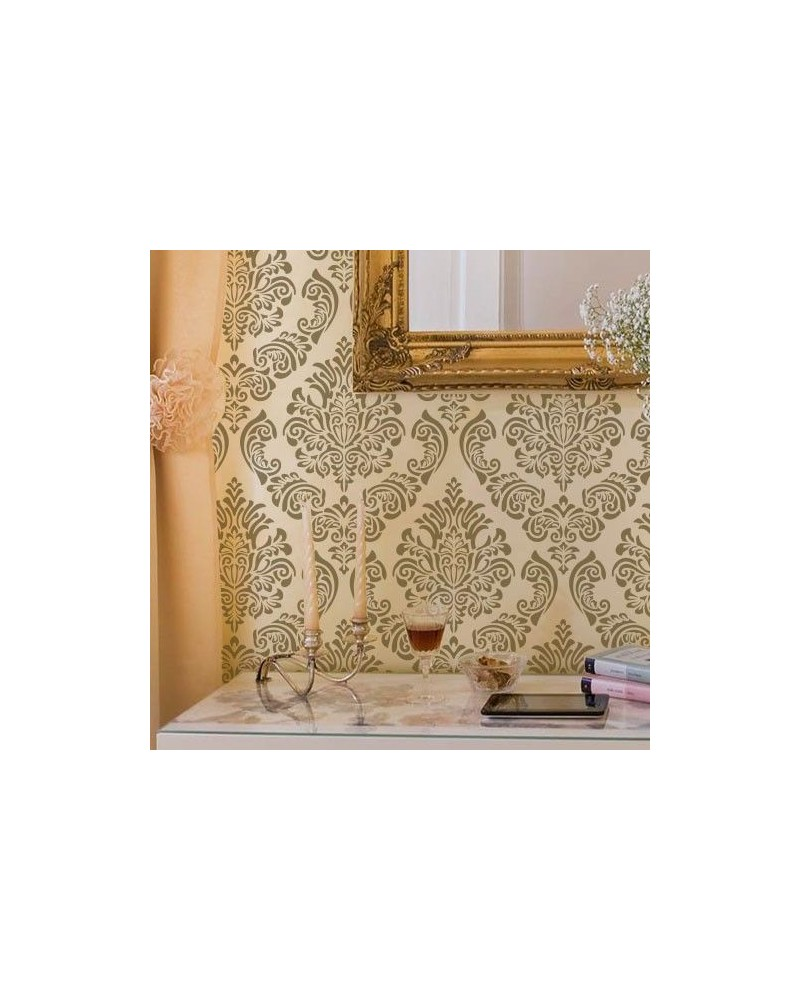 Wall Stencil Damask 010 Scalbi