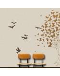 Wall Stencil Animal 001 Pajaros Volando