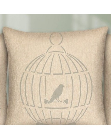 Home Decor Stencil Animal 003 Bird in Cage