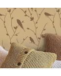 <h2>Wand Stencil Tier 006 Vögel auf Ast</h2> <p>Ungefähre Grössen:</p> <ul> <li>Stencil: 76 x 76 cm</li> <li>Design: 70 x 70 cm</li> </ul> <p>* Figur der gewünschten Grösse.</p> <p>Enthält: Stencil</p>