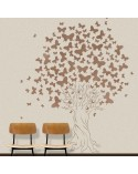 <h2>Wall Stencil Tree 001 Butterflys</h2> <p>Dimensions:</p> <ul> <li>Stencil size: 132 x 172 cm (51.9 x 67.7 in)</li> <li>Design size: 120 x 150 cm (47.2 x 59.1 in)</li> </ul> <p>* We can make the stencil the size you wish.</p> <p>Includes: 4 Stencils 23.6 x 29.1 in that form the tree</p>