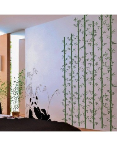 Stencil Pared Arbol 008 Bambu