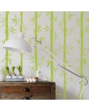 Stencil Pared Arbol 008 Bambu