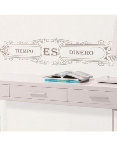 Stencil Pared Cartel 002 Tiempo es Dinero