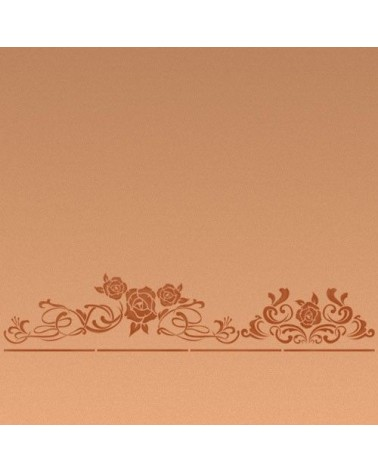 Wall Stencil Border 004 Roses and Filigrees