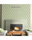 <p>Large format stencils for decorating rooms, walls, ceilings, furniture, curtains, carpets, cushions, etc.</p> <ul> <li>(S) 50 x 50cm - Design 48 x 48cm</li> <li>(M) 50 x 70cm - Design 48 x 68cm</li> <li>(L) 60 x 90cm - Design 58 x 88cm</li> </ul>