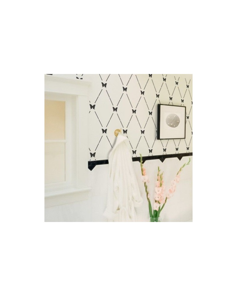 Wall Stencil Geometric 010 Rhombus Leaves