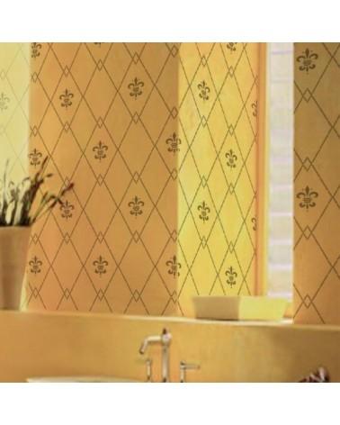 Stencil Home Decor Geometrico 011 Rombos Flor de Lis