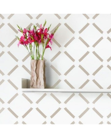 Stencil Pared Geometrico 016 Rombos Chic