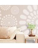 Stencil Pared Geometrico 021 Flores