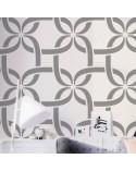 <p>Plantillas de gran formato para la decoración de habitaciones, paredes, techos, muebles, cortinas, alfombras, cojines, etc</p><p><ul><li>(S) 50 x 50cm - Diseño 48 x 48cm</li><li>(M) 50 x 70cm - Diseño 48 x 68cm</li><li>(L) 60 x 84cm - Diseño 62 x 82cm</li></ul></p>