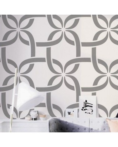 Wand Stencil Geometrie 022 Verbunden