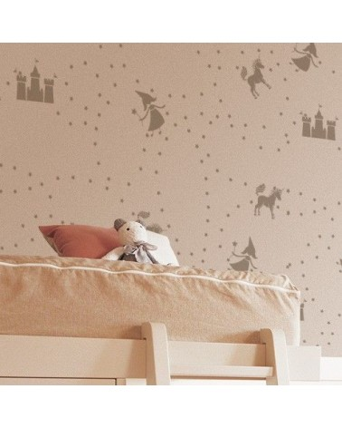 Stencil Home Decor Infantil 003 Camino Castillo