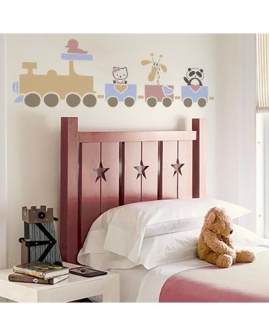 Stencil Home Decor Infantil 005 Tren y Animales