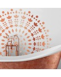 <h2>Wand Stencil Rosette 003 Mandala</h2> <p>Ungefähre Grössen:</p> <ul> <li>Stencil: 90 x 90 cm</li> <li>Design:82 x 82cm</li> </ul> <p>* Figur der gewünschten Grösse.</p>