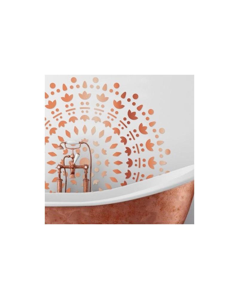 Stencil Pared Roseton 003 Mandala