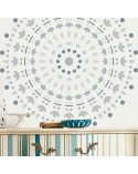 Stencil Pared Paisley 001