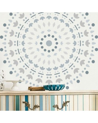 Stencil Home Decor Roseton 004