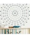 Stencil Pared Roseton 004 Mandala