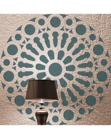 Stencil Pared Roseton 005 Mandala