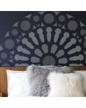 <h2>Wall Stencil Rose Window 006</h2> <p>Dimensions:</p> <ul> <li>Stencil size: 90 x 90 cm (35,4x35,4 in)</li> <li>Design size: 82 x 82 cm (32,3x32,3 in)</li> <li>Size of shape 1: 90 x cm ( in)</li> <li>Size of shape 2: 0,1 x 82 cm ( in)</li> <li>Size of shape 3: 82 x cm ( in)</li> </ul> <p>* We can make the stencil the size you wish.</p> <p>Includes: Stencil</p>