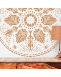 <h2>Wall Stencil Rosette 007</h2> <p>Dimensions:</p> <ul> <li>Stencil size: 76 x 76 cm (29,9x29,9 in)</li> <li>Design size: 70 x 70 cm (27,6x27,6 in)</li> <li>Size of shape 1: 70 x 70 cm (27,6x27,6 in)</li> </ul> <p>* We can make the stencil the size you wish.</p> <p>Includes: Stencil</p>