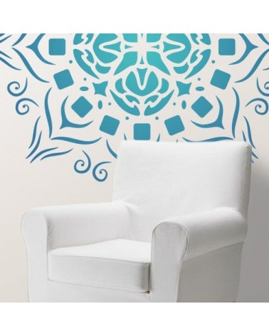 Home Decor Stencil Rosette 010 Mandala