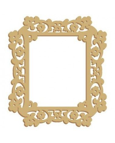 Wood Shape Frame 028 Floral