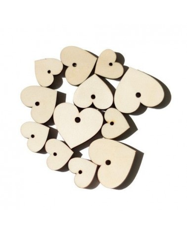 Wood Shapes 015 Heart Tag 12un