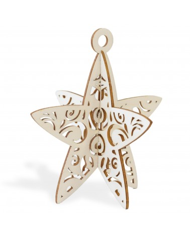 3d Wood 016 Christas Star