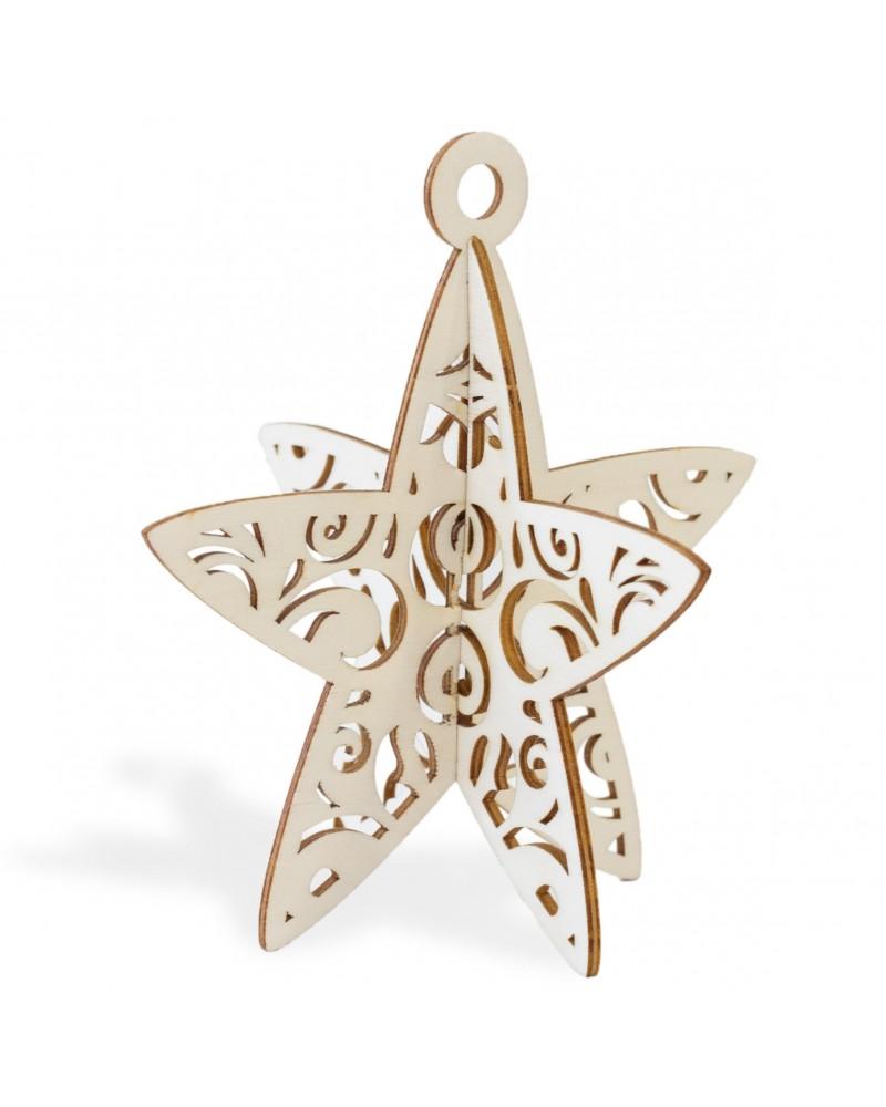3d Wood 016 Christas Star