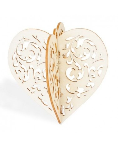 3d Wood 017 Christmas Heart