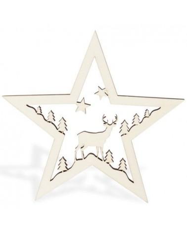 Soporte Madera 063 Estrella Ciervo