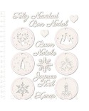 Chipboard Sheet 006 Tags Christmas