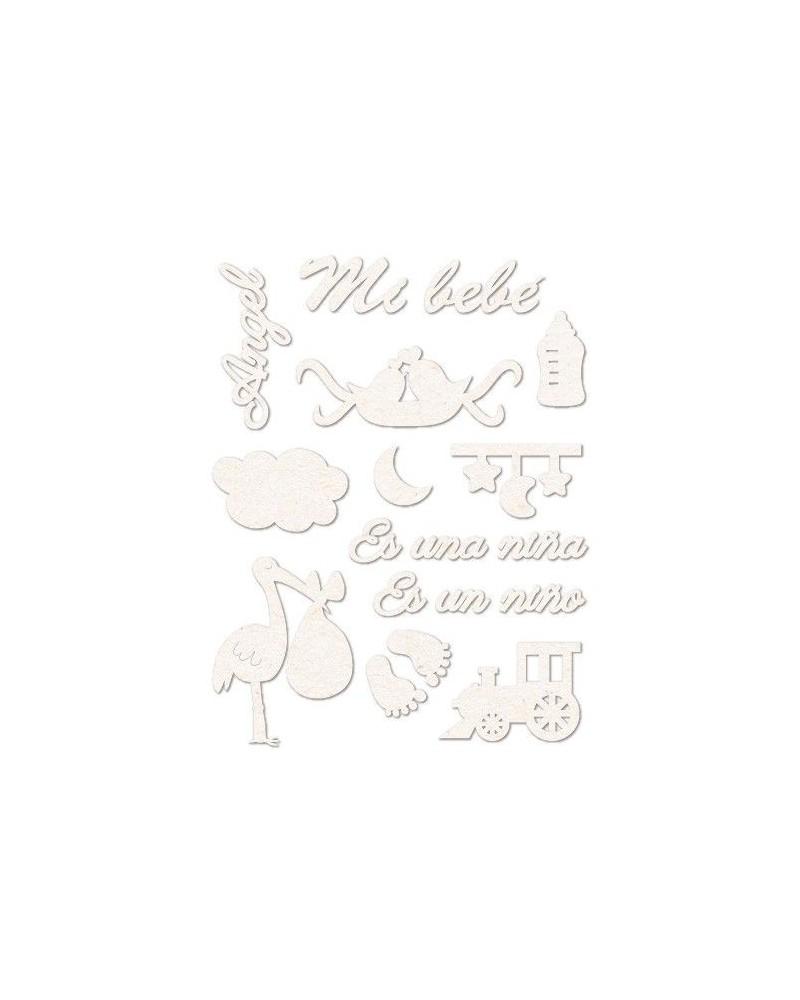 set siluetas carton 004 bebes recien nacidos