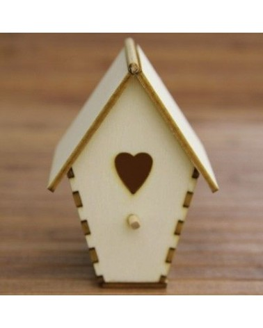 3d Wood 002 Bird House