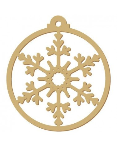 Wood Shape Festivities 006 Tag Snowflake