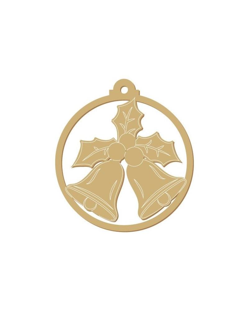 silueta madera fiesta 008 bola campanas navidad