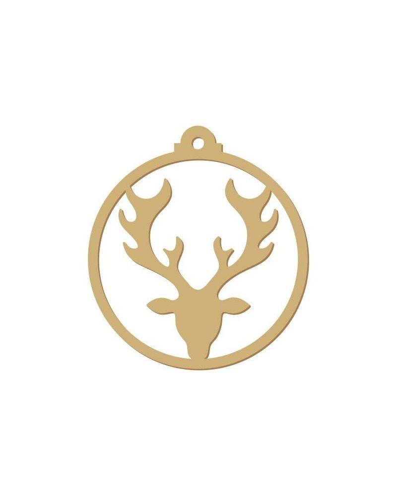Wood Shape Festivities 006 Tag Deer