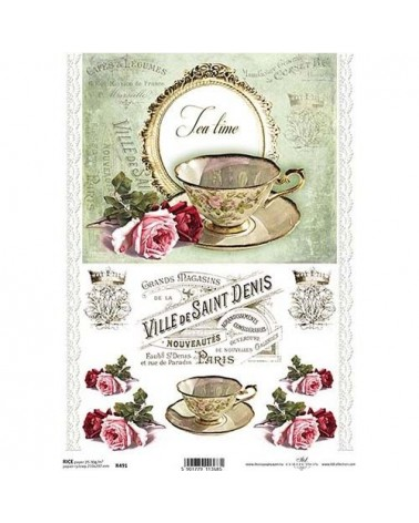 Papel de Arroz Decoupage R491 A4