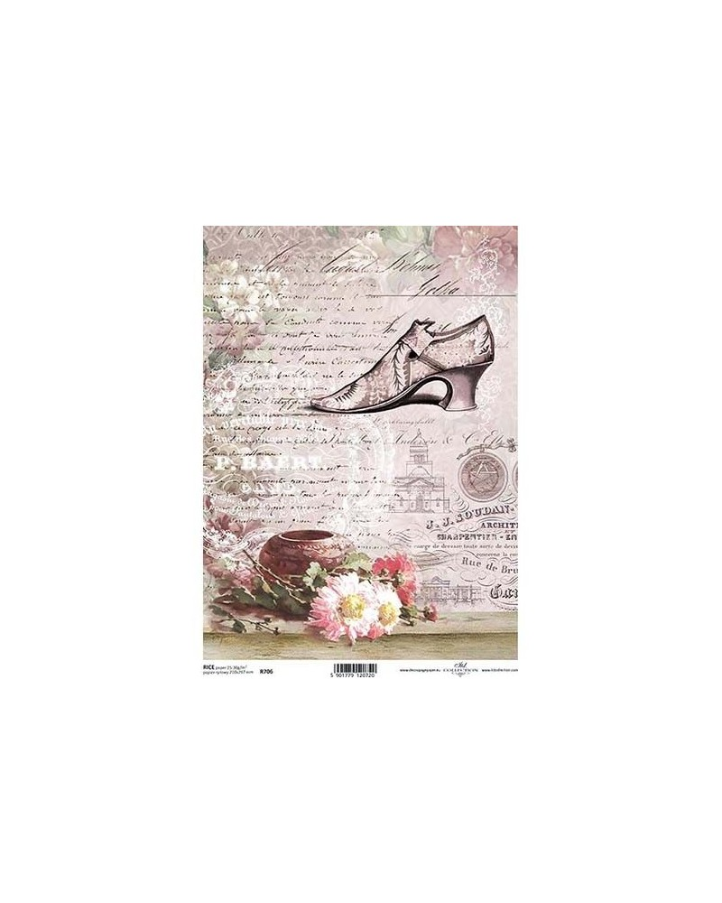 Papel de Arroz Decoupage R706 A4