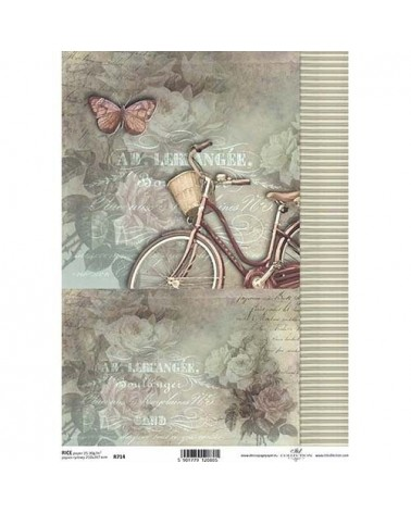 Papel de Arroz Decoupage R0714 A4