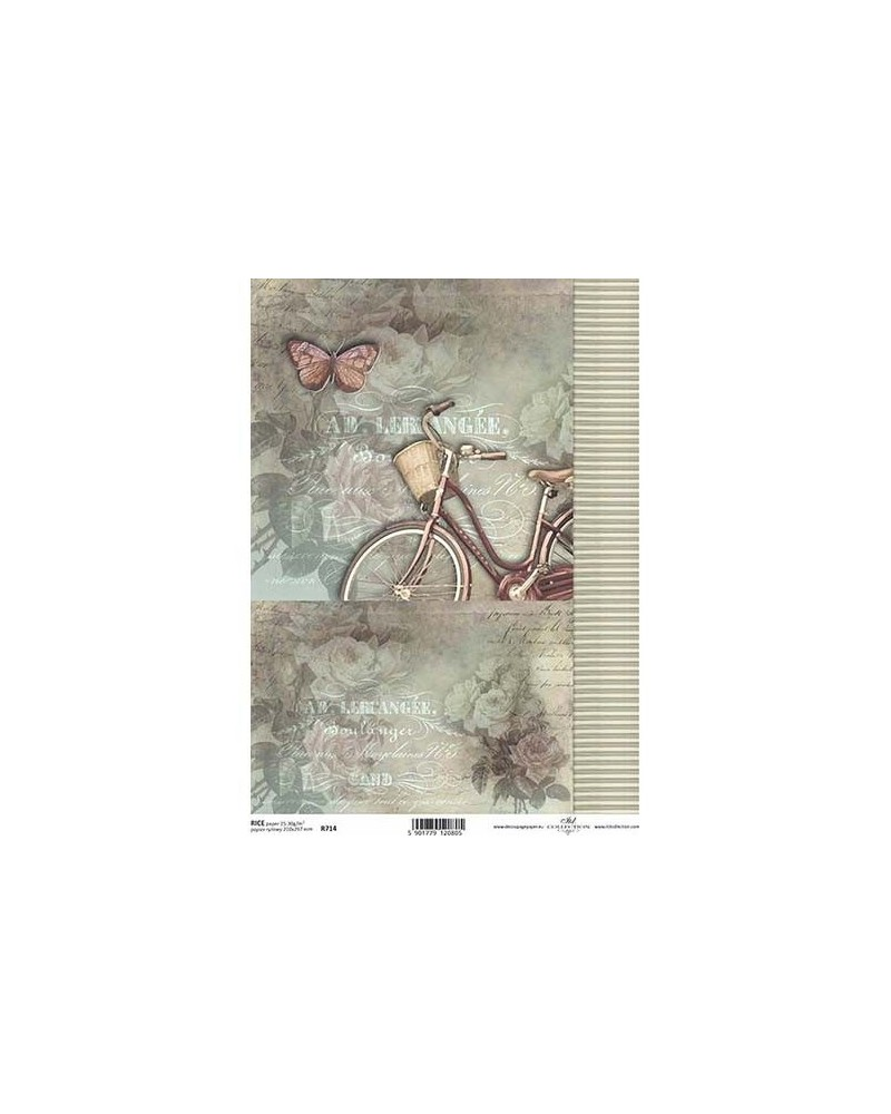Papel de Arroz Decoupage R714 A4