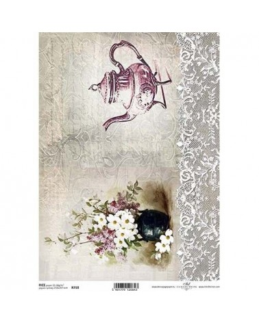 Papel de Arroz Decoupage R0718 A4