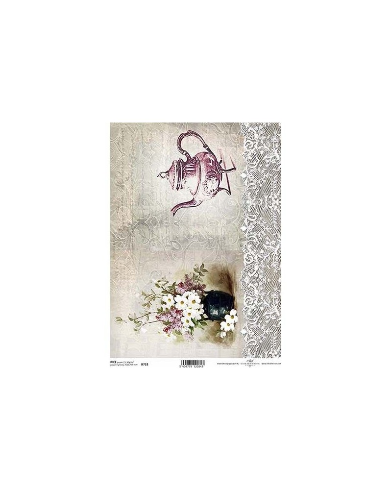 Papel de Arroz Decoupage R718 A4