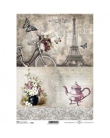 Papel de Arroz Decoupage R0728 A4