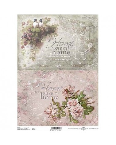 Papel de Arroz Decoupage R0730 A4