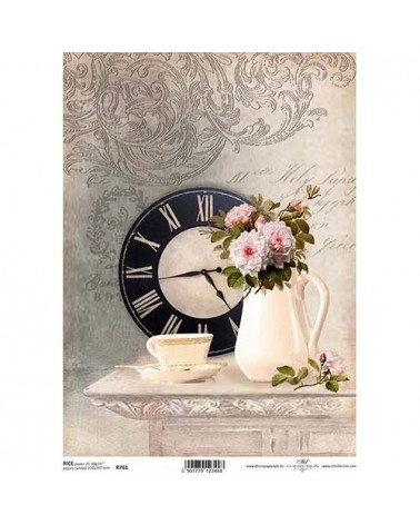 Papel de Arroz Decoupage R761 A4