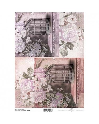 Papel de Arroz Decoupage R0764 A4